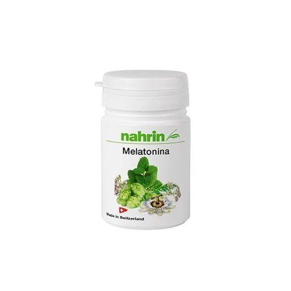 Nahrin Melatonina kapszula (macskagyökér, citromfű, golgotavirág és komló kivonattal) 30db